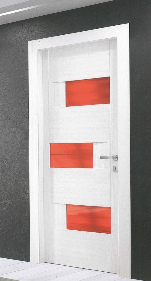 Porte interne duezeta infissi for Porta a libro bianca con vetro